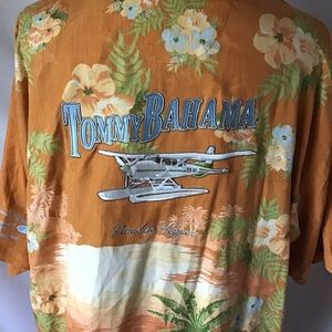 Tommy Bahama 100% Silk Button Up size xxl